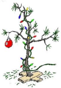 Scrawny tree