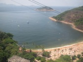 Picture of Rio de Janeiro Beach taken from the top of the Sugar Loaf Mountain.