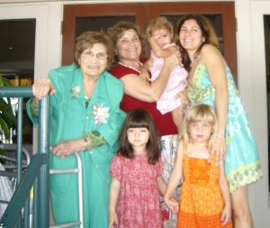 Four Generations on Mother's Day 2008