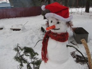 Our Snowman from last year!