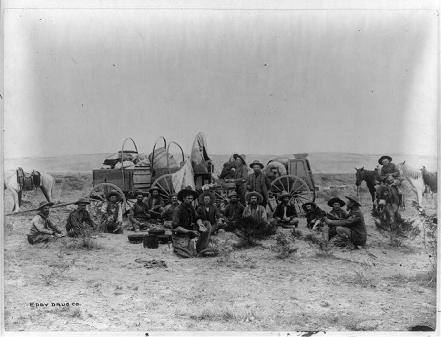 cowboys at supply wagon