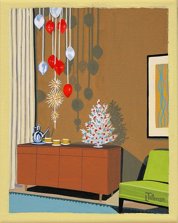 Mid century xmas decorations diepedia