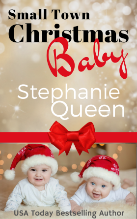 Small Town Christmas Baby Cover Twins Bow-2