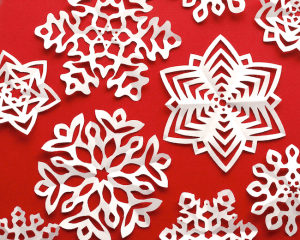 Tradition snowflakes paper